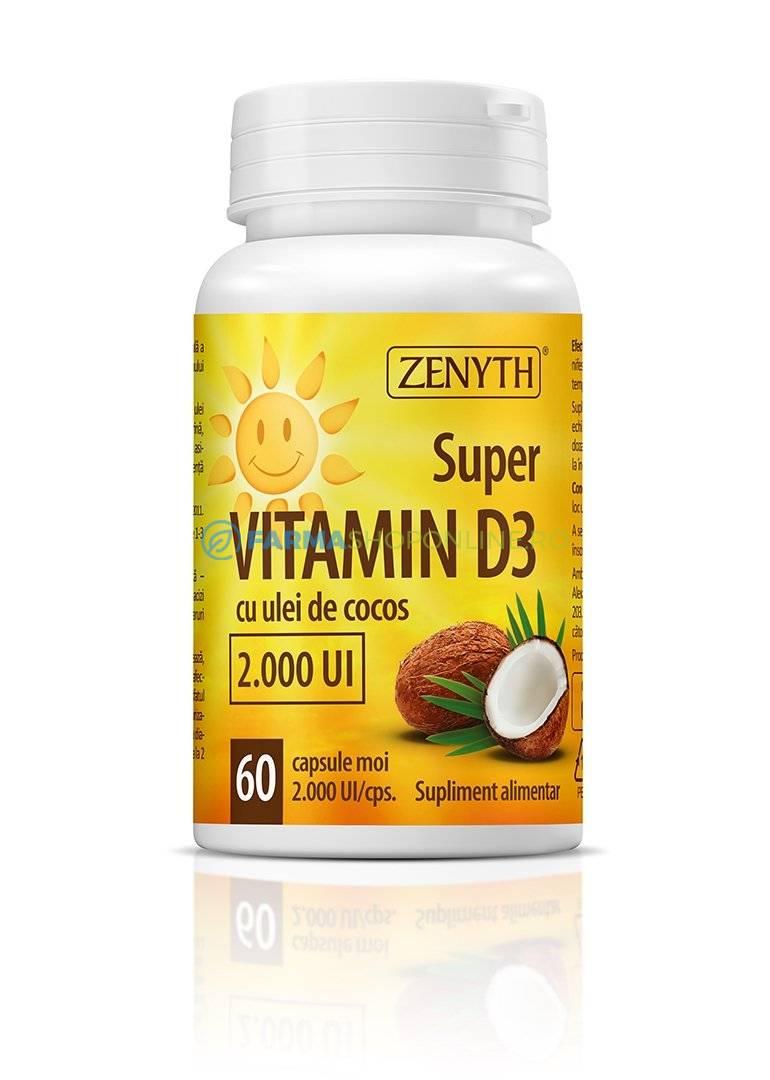 Supliment alimentar Vitamina C + D3 + Zn 60 capsule Zenyth