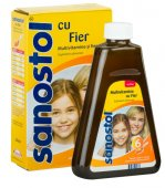 Sanostol Multivitamine si Fier sirop, 230 ml, Takeda