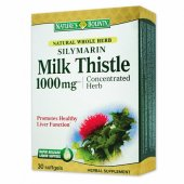 Silymarin Milk Thistle 1000 mg, 30 + 10 capsule Promo, Nature's Bounty