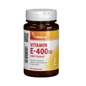 Vitamina E natural 400 UI, 60 capsule moi, VitaKing